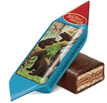 """The Candy Packaging Depicts the Picture """"The Morning in a Pine Forest"""" by Ivan Shishkin"""