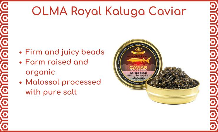 OLMA Kaluga Caviar Is a Close Cousin and Alternative to Wild Caspian Beluga